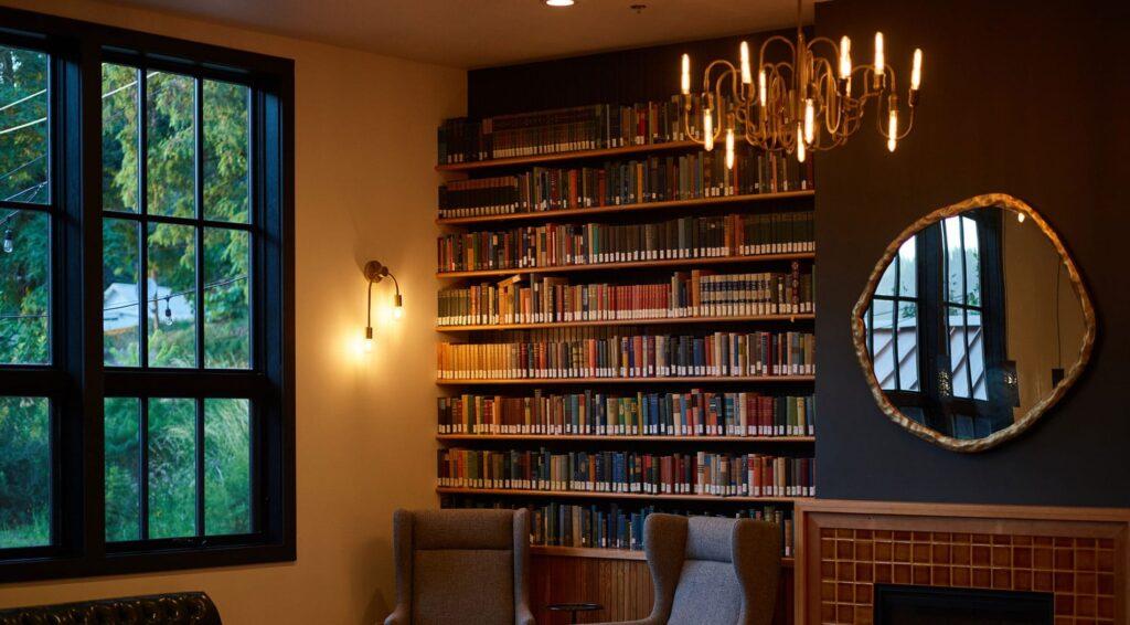 Vintage hatású fali lámpák a nappaliban
