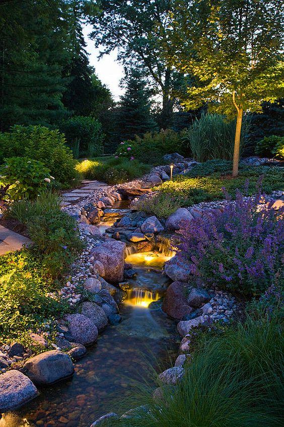 kerti folyó megvilágítása