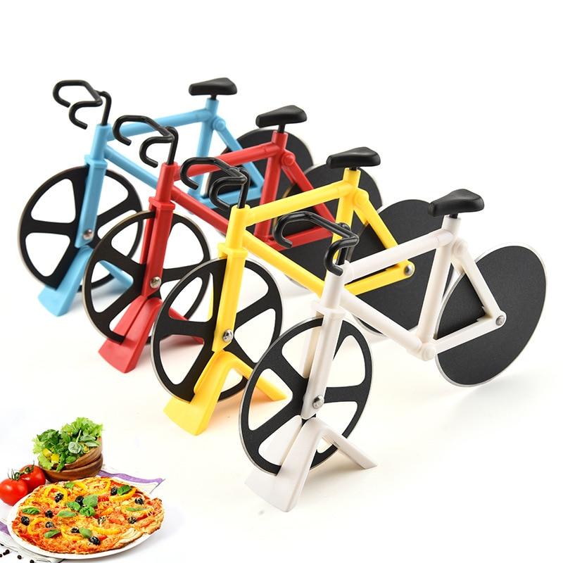kerékpáros biciklis pizza szeletelő