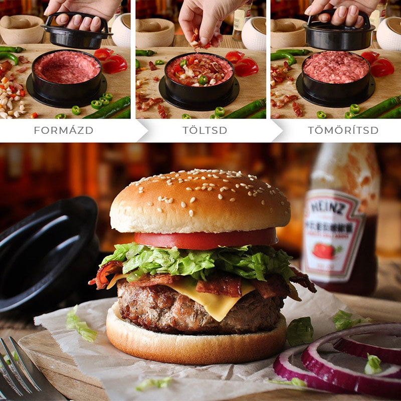 hamburger hús töltő és formázó